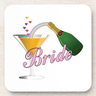 Bride Champagne Toast Bride Beverage Coaster