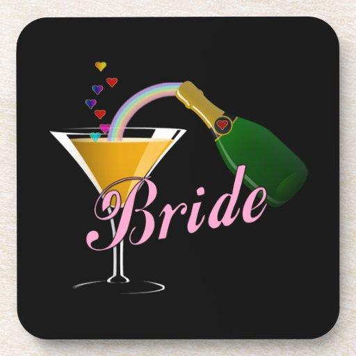 Bride Champagne Toast Bride Beverage Coasters