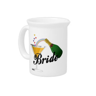 Bride Champagne Toast Pitcher
