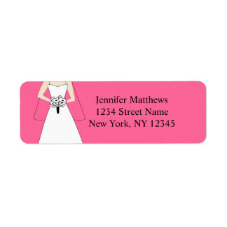Bride Clipart Wedding Return Address Labels