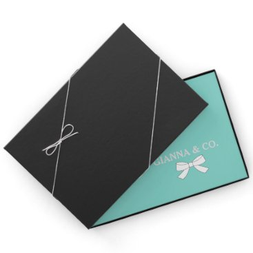 BRIDE & CO Blue and White Bow Party Guest Book