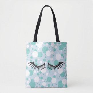 BRIDE & CO. Blue And White Polka-Dot Tote Bag