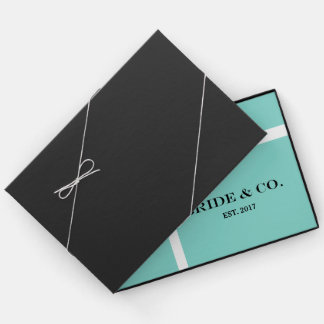 BRIDE & CO Blue and White Wedding Party Guest Book