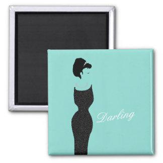 BRIDE & CO. Blue Tiffany Little Black Dress Magnet