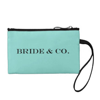 BRIDE & CO. Blue Tiffany Party Key Coin clutch