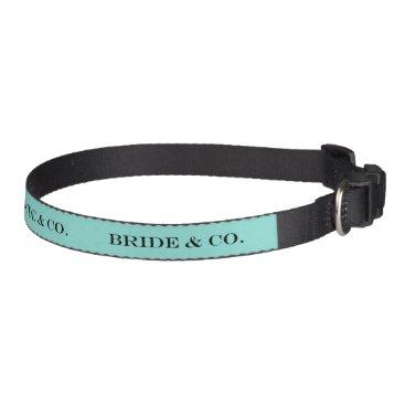 McTiffany Tiffany Aqua BRIDE & CO. Blue Tiffany Pet Dog Collar
