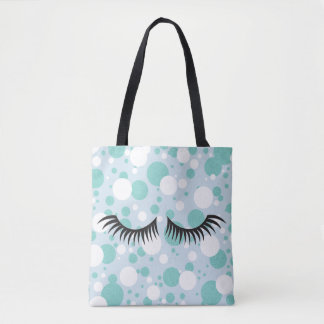 BRIDE & CO. Blue Tiffany Polka-Dot Tote Bag