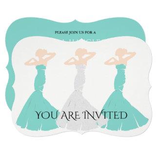 BRIDE & CO Blue & White Wedding Shower Invitation