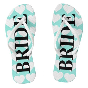 McTiffany Tiffany Aqua BRIDE & CO Bride Teal Blue Wedding Flip Flops