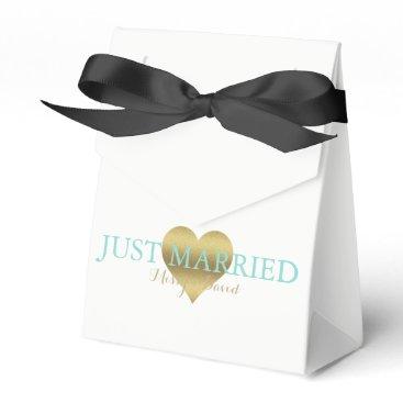 McTiffany Tiffany Aqua BRIDE & CO Gold Heart Tiffany Party Favor Boxes