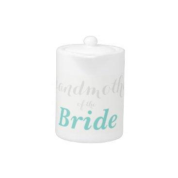 McTiffany Tiffany Aqua BRIDE & CO Grandmother Of The Bride Party Teapot