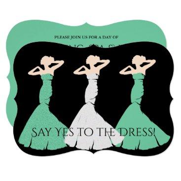 McTiffany Tiffany Aqua BRIDE & CO Green Bridesmaid Shower Invitation