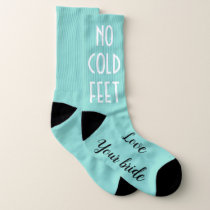 BRIDE & Co Groom No Cold Feet Wedding Party Socks