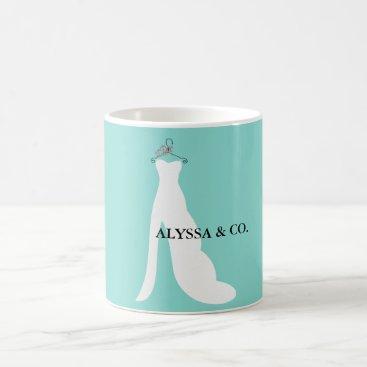 McTiffany Tiffany Aqua BRIDE & CO Here Comes The Bride Party Mug