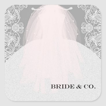 McTiffany Tiffany Aqua BRIDE & CO Here Comes The Bride Party Stickers