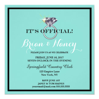 BRIDE & CO. It's OFFICIAL! Engagement Invitation