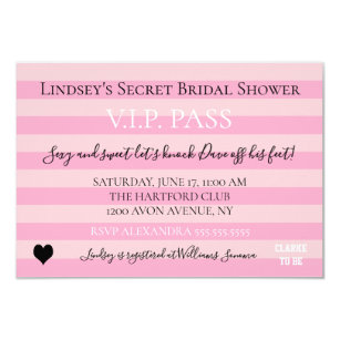 Bride Co Love Pink Bridal Shower Party Invitation