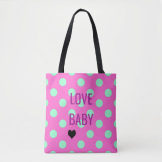 BRIDE & CO Love Polka Dots Party Tote Bag