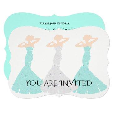 McTiffany Tiffany Aqua BRIDE & CO Mint Bridesmaid Bridal Party Invitation