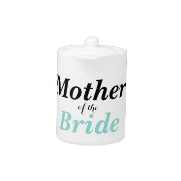 McTiffany Tiffany Aqua BRIDE & CO Mother Of The Bride Party Teapot