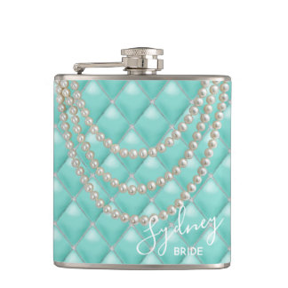 BRIDE & CO Paris Theme Bridal Party Wrapped Flask