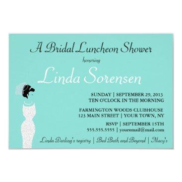 McTiffany Tiffany Aqua BRIDE & CO Personalize Bridal Shower Invitation