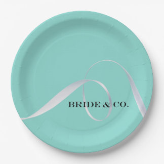 BRIDE & CO Personalize Ribbon Party Paper Plates