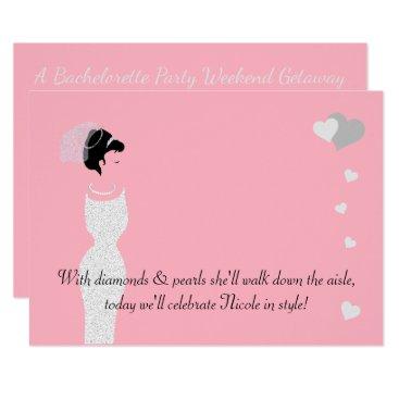 McTiffany Tiffany Aqua BRIDE & CO Pink Bride Party Invitation