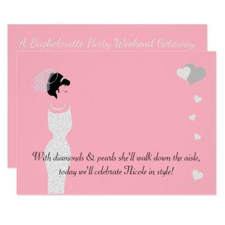 BRIDE & CO Pink Bride Shower Party Invitation