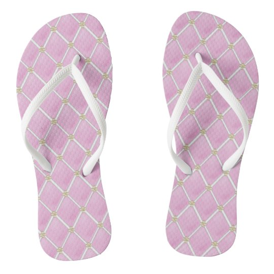 82a84d14d1d0d BRIDE CO Pink Paris Theme Bridal Party Flip Flops
