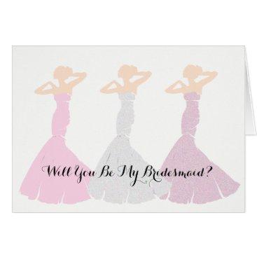 McTiffany Tiffany Aqua BRIDE & CO Pink Will You Be My Bridesmaid Cards