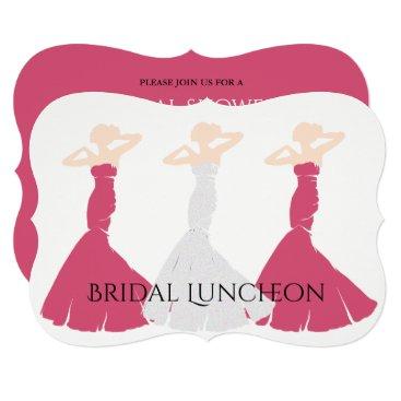 McTiffany Tiffany Aqua BRIDE & CO Rose Bridal Party Invitation