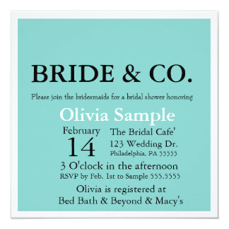 Bride & Co. Shower Invitation
