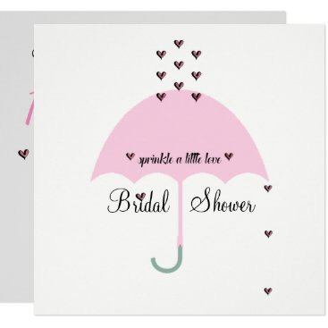 McTiffany Tiffany Aqua BRIDE & CO Sprinkle Love Bridal Shower Invitation