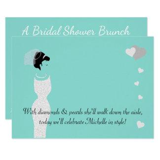 BRIDE & CO Teal Blue Bridal Shower Invitation