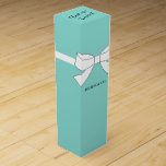 """BRIDE &amp; CO Teal Blue Celebration Personalize Party Wine Gift Box<br><div class=""""desc"""">Darling, thank your company with a bottle of wine and be sure to place in this fabulous box. Look for BRIDE &amp; CO. matching wine labels and wine bag, personalize it to make it your own! Just another way to make your party special. Look for other ideas all part of...</div>"""