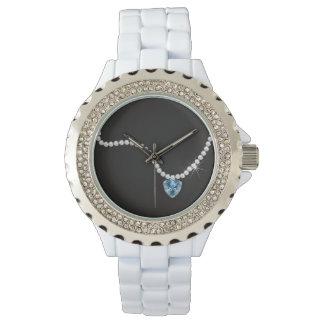 BRIDE & CO Teal Blue Diamond Favor Party Watch