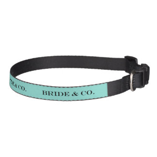 BRIDE & CO Teal Blue Pet Dog Collar