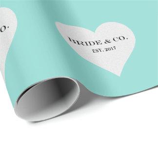 BRIDE & CO Teal Blue Tiffany Party Wrapping Paper