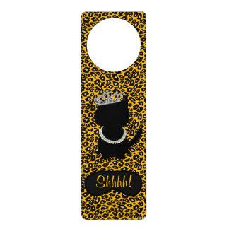 BRIDE & CO. Tiara Cat Shhhh! Door Hanger