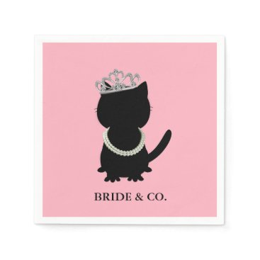 BRIDE & CO Tiara Party Tiffany Cat Party Napkins