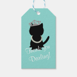 BRIDE & CO Tiffany Cat Tiara Party Gift Tags