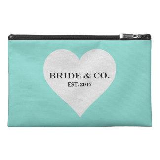 BRIDE & CO. Tiffany Heart Travel Accessory Bag