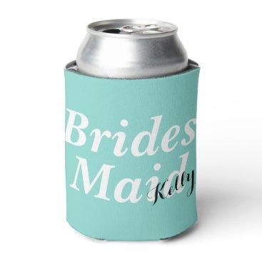 McTiffany Tiffany Aqua BRIDE & CO Tiffany Teal Blue Bridesmaid Can Cooler