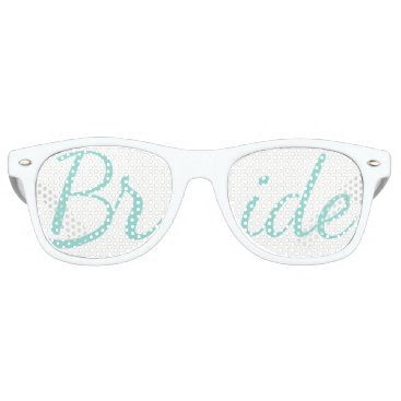 McTiffany Tiffany Aqua BRIDE & CO. Tiffany Wedding Bride Party Sunglasses