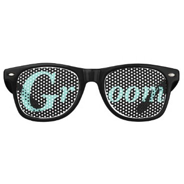 McTiffany Tiffany Aqua BRIDE & CO. Tiffany Wedding Groom Party Sunglasses
