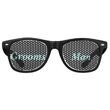 McTiffany Tiffany Aqua BRIDE & CO. Tiffany Wedding Groomsman Sunglasses