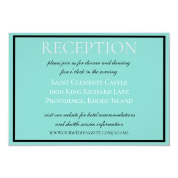 Beach Themed BRIDE & CO Traditional Wedding Suite Insert Card