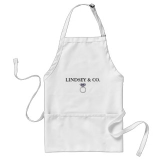 BRIDE & CO Wedding Ring Personalize Party Apron