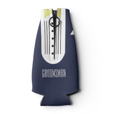 McTiffany Tiffany Aqua BRIDE & CO.Yellow Groomsmen Bottle Cooler
